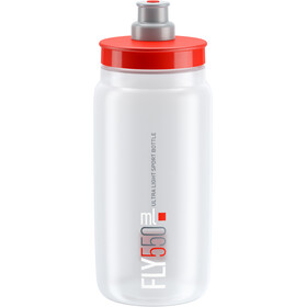 Elite Fly Drinking Bottle 0.5 l, clear/red logo